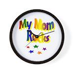 My Mom Rocks Wall Clock