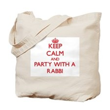 Keep Calm and Party With a Rabbi Tote Bag
