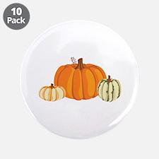 """Pumpkins 3.5"""" Button (10 pack)"""