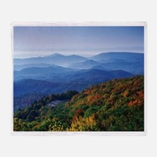 Blueridge Parkway Landscape Throw Blanket