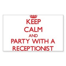 Keep Calm and Party With a Receptionist Decal
