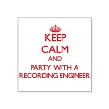 Keep Calm and Party With a Recording Engineer Stic
