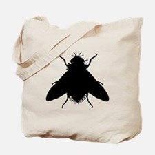 Housefly Silhouette Tote Bag