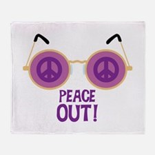 PEACE OUT! Throw Blanket