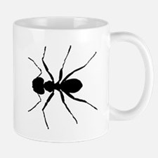 Carpenter Ant Silhouette Mugs