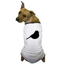 Meadowlark Bird Silhouette Dog T-Shirt
