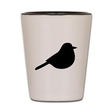 Meadowlark Bird Silhouette Shot Glass