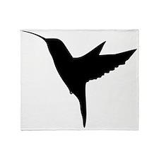 Hummingbird Silhouette Throw Blanket
