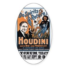 Houdini Magic Show Poster Decal