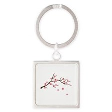 Cherry Blossom Flowers Branch Keychains