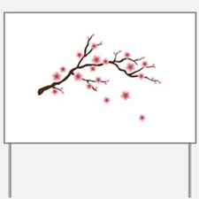 Cherry Blossom Flowers Branch Yard Sign