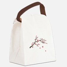 Cherry Blossom Flowers Branch Canvas Lunch Bag