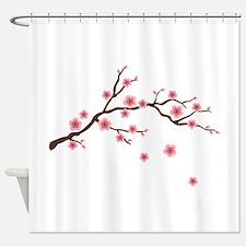 Cherry Blossom Flowers Branch Shower Curtain
