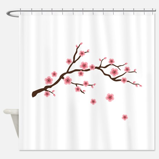 Cherry Blossom Flowers Branch Shower Curtain