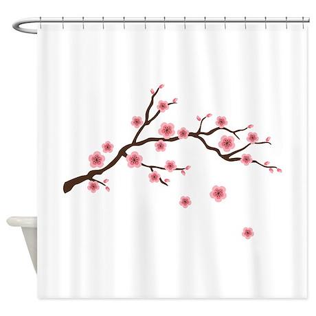 Lovely Cherry Blossom Flowers Branch Shower Curtain