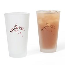 Cherry Blossom Flowers Branch Drinking Glass
