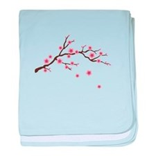 Cherry Blossom Flowers Branch baby blanket