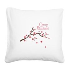 Cherry Blossoms Square Canvas Pillow