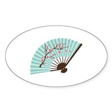 Oriental Paper Cherry Blossom Fan Decal