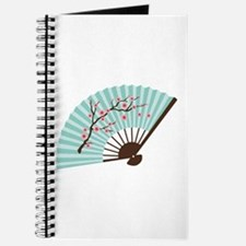Oriental Paper Cherry Blossom Fan Journal