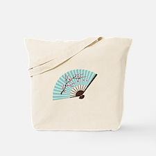 Oriental Paper Cherry Blossom Fan Tote Bag