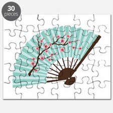 Oriental Paper Cherry Blossom Fan Puzzle