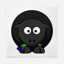 Cartoon Black Sheep Queen Duvet