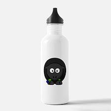 Cartoon Black Sheep Sports Water Bottle