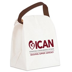 ICAN 2014 logo Canvas Lunch Bag