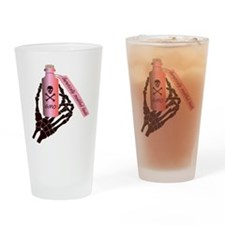 Pink Bottle of Poison Drinking Glass