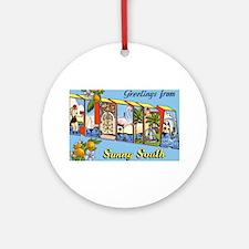 Florida Greetings Ornament (Round)