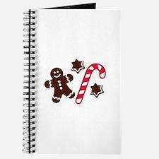 Lebkuchen man candy cane Journal