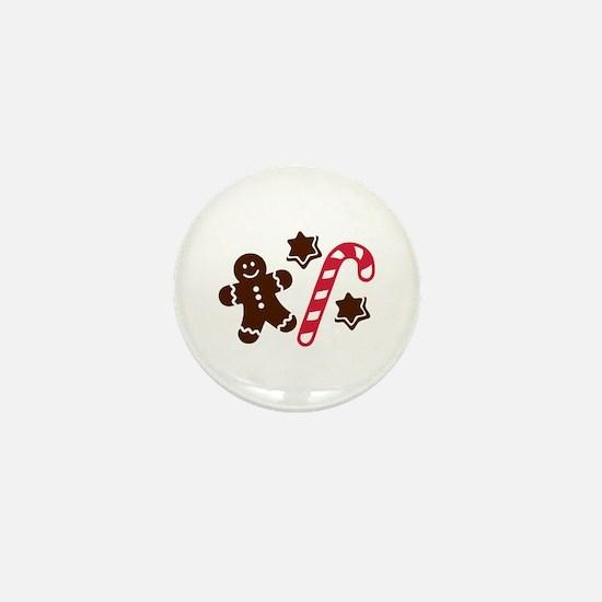 Lebkuchen man candy cane Mini Button