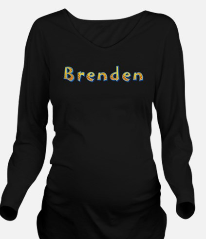 Brenden Giraffe Long Sleeve Maternity T-Shirt