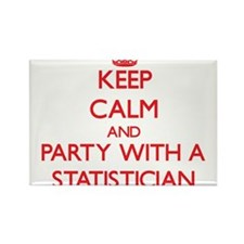 Keep Calm and Party With a Statistician Magnets