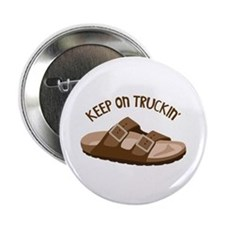 "Keep On Truckin 2.25"" Button"