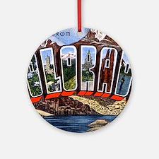 Colorado Greetings Ornament (Round)
