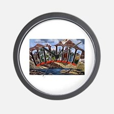 Colorado Greetings Wall Clock