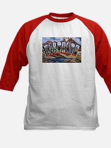 Colorado Greetings (Front) Kids Baseball Jersey