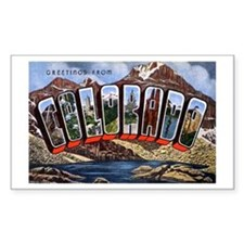 Colorado Greetings Rectangle Decal