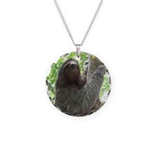 Sloth in a Tree Necklace