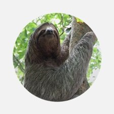 Sloth in a Tree Round Ornament