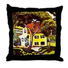 Macke - Staudacher's House at Tegerns Throw Pillow