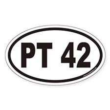 PT 42 Euro Oval Decal