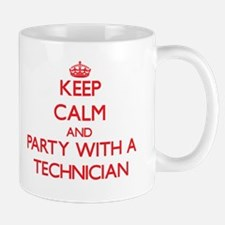 Keep Calm and Party With a Technician Mugs