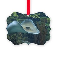 Stingray Flying Through the Water Ornament