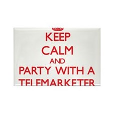 Keep Calm and Party With a Telemarketer Magnets