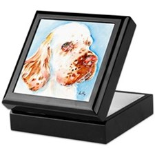 Cute Clumber spaniel Keepsake Box