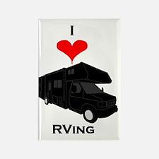 I Love RVing Rectangle Magnet