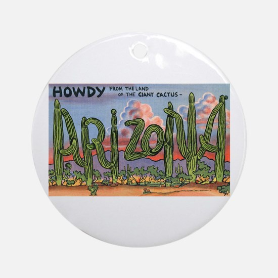Arizona Greetings Ornament (Round)